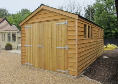 Featheredge garage